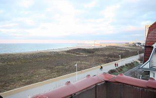 Blick zur Hafenausfahrt in Rostock – Ferienwohnung