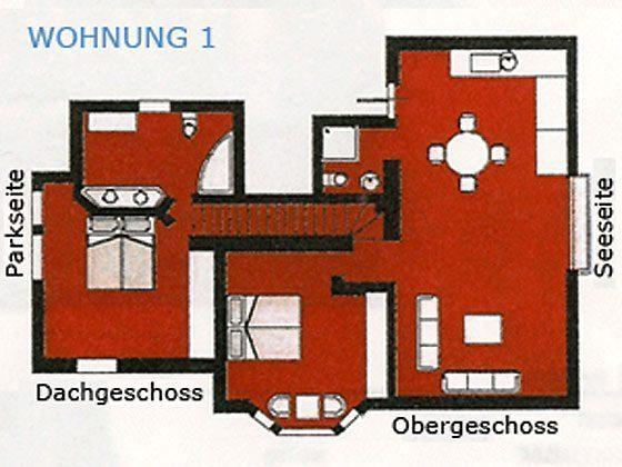 Grundriss Ferienwohnung No1 Warnemünde - Villa am Strand
