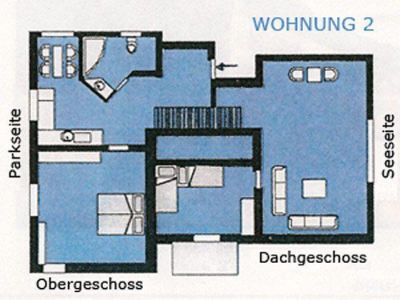 Moderne Ferienwohnung in Warnemünde - Grundriss